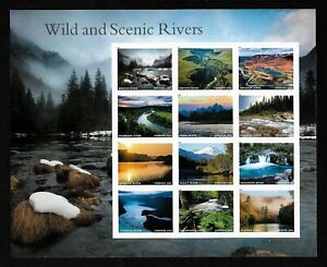 #5381 Wild and Scenic Rivers (forever) 2019 Issue - MNH Sheet of 12