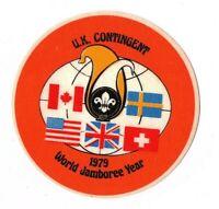 Boy Scout World Jamboree 1979 UK United Kingdom Contingent Large Jacket Patch