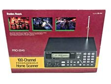 New ListingRadio Shack Pro-2040 100 Channel Hyperscan 800 Mhz Scanning Receiver Vg Free S&H