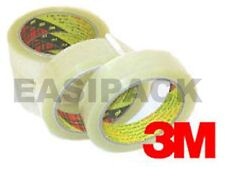 "2 Rolls of 3M Scotch 371 CLEAR Packing 1"" Tape 25mm x 66m"