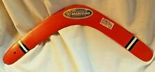 1965 WHAM-O Aussie Red Boomerang with Sticker Made USA Retired Product