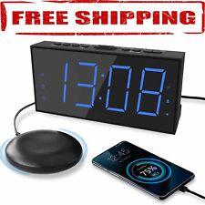 Super Extra Loud Digital Alarm Clock Bed Shaker Vibrating For Heavy Sleeper New