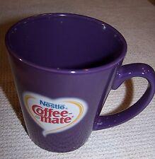 Nestle COFFEE-MATE Ceramic 12oz Mug PURPLE ~ NWOT
