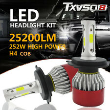 PAIR H4 High Low 600W 72000LM CREE LED Headlight kit Driving Lamp Bulb Globes