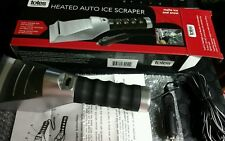 Totes Heated Auto Ice Scraper With Flashlight & Flexible Squeegee NEW