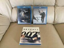 James Bond 007 Quantum Of Solace, Casino Royale, & Skyfall Blu-Ray Set Of 3