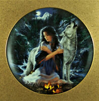 PEACEFUL SPIRITS Plate Together as One Russ Docken #3 Bradford Exchange Wolf