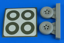 Aires 2228 Resin 1/32 Spitfire Mk.IXc 5-spoke wheels and paint masks Tamiya