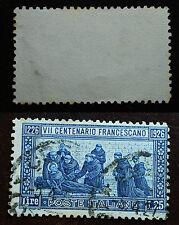 1926 Regno D'Italia   VII  centenario  francescano  lire  1,25