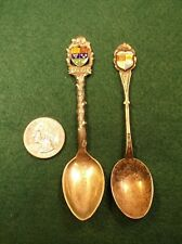 """#31, PAIR OF VTG STERLING SILVER CANADIAN SOUVENIR SPOONS """"TORONTO"""" """"VANCOUVER"""""""