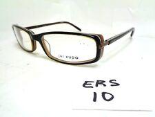 Nos JAI KUDO Eyeglasses Frame EA1661 P86 Brown Black Rectangular  (ERS-10)