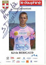 FOOTBALL carte joueur KEVIN BERIGAUD équipe EVIAN THONON GAILLARD signée