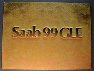 1976 Saab 99 GLE Catalog Sales Brochure Excellent Original 76