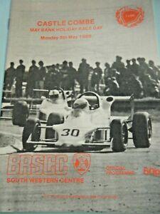 CASTLE COMBE PROGRAMME 1986 ROB COX LOTUS ELAN RICHARD WARD MARK BLUNDELL BRSCC