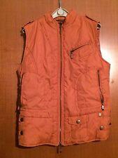 Giubbino donna imbottito, senza maniche, arancione scuro - Taglia S. By EXTIN.