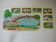 New ListingPeanuts Snoopy Cayman Islands First Day Cover Fdi 2002 Cancel *Rare!