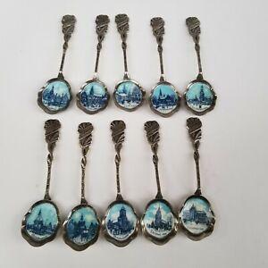 Vintage Collector Spoon Merry Christmas Blue Enamel 1972-1981 Holland