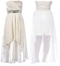 Polyester Bandeau Party Asymmetric Hem Dresses for Women