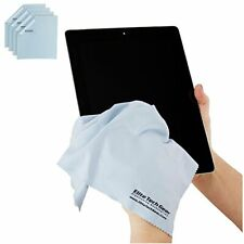 """4-Pack Blue Oversized 12"""" x 12"""" Microfiber Cloth Perfect for Cleaning Screens"""