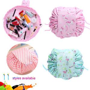 Drawstring Cosmetic Bag Travel Makeup Toiletry Bags Portable Waterproof JS