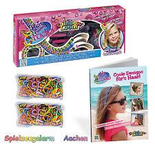 Original Rainbow Loom Hairloom Studio + Buch Coole Designs für Haar + 2x Mix Ref