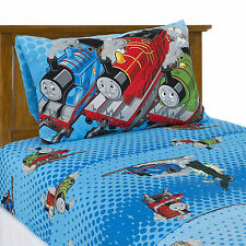 3-Pc. Thomas The Tank Engine Twin Bed Set Flat Sheet Fitted Sheet Pillow Case