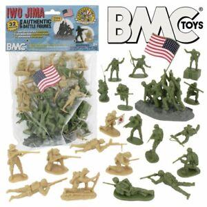 "BMC 40032 ""WWII Battle of Iwo Jima Set"" 32pc 1/32 Plastic Army Men"