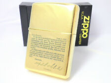 GOLD BRASS zippo Unfired with Flaws 1998 Rare                          140206a13