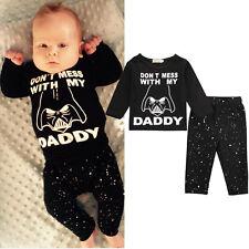 Bebé Recién Nacido Infantil Star Wars Camiseta Suéter Pantalones Disfraz Ropa