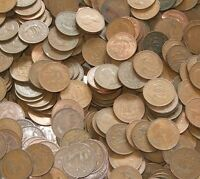 100 X HALF PENNIES COINS OLD ENGLISH COINS 1911-1967