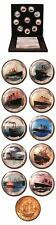 Historic World Steamships Set of 10 Enameled Coins Bronze Half-Penny Host Mint B
