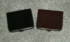 VINTAGE COIN PURSES / WALLETS x 2 BLACK & BROWN FAUX LEATHER NEW OTHER