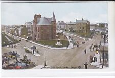 POSTCARD PORTRUSH FROM RAILWAY STATION. VINTAGE VEHICLES / CARS