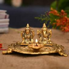 Laxmi Ganesha Sitting Diya Statue - Vastu Diya For Puja For Diwali Decoration