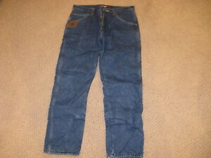 Wrangler RIGGS Flame Resistant WorkWear Blue Jeans - Lined 33 x 32