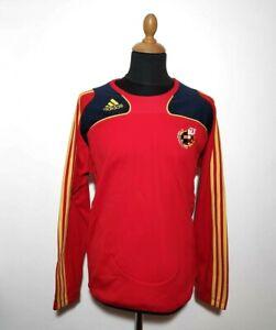 Spain National Team Soccer Sweatshirt Adidas Size M Red Long Sleeve Jersey Men
