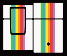 Skin for Polaroid SX 70 Belederung SX70 SLR680 SLR690 Regenbogen Rainbow white