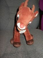"""Rudolph Red Nosed Reindeer Plush Musical  12"""" Lgth Stuffed Animal Toy Xmas"""