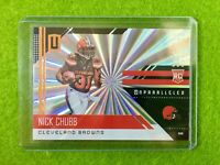 NICK CHUBB ROOKIE CARD PRIZM REFRACTOR RC BROWNS SP Shine 2018 UNPARALLELED #216