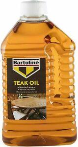 Bartoline Teak Oil Garden Wood Sealer Furniture Nourishes & Protects 2L 4L 6L