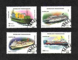 Madagascar 1994 Contemporary Ships short set of 4 values used