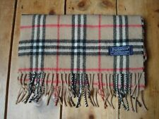 BURBERRY womens Nova check scarf cashmere/wool RRP £370