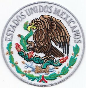 "Mexico Flag Logo Embroidered Patches 3"" Diameter iron-on"