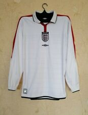 England national 2003 - 2005 home football shirt jersey Umbro size M long sleeve