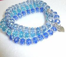 Bracciali di bigiotteria blu in cristallo di cristallo