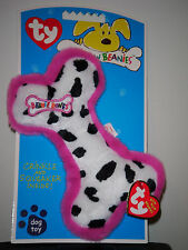 Ty Bow Wow Beanies ~ Cow Print Bone - Crinkle/Squeak Toy ~ Mint with Mint Tags