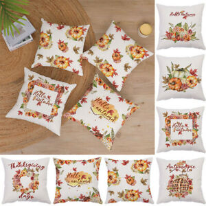 Autumn Harvest Thanksgiving Pillowcase Modern Pastoral Style Cushion Covers Soft