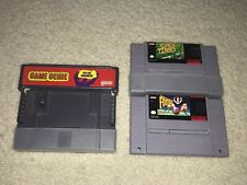 SUPER NINTENDO GAME GENIE TENNIS SUPER PLAY ACTION FOOTBALL CARTRIDGES LOT