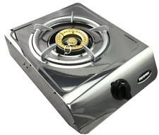 Single Wok Burner Cooker LPG Gas Hose + Regulator Portable Bench top Camping BBQ
