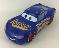 "Disney Cars 3 Change & Race Fabulous Lightning McQueen 10"" Blue Race Car Mattel"